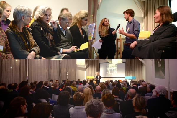 impressie event Raedelijn - samenwerken aan zorg en gezondheid - bezoekers luisteren naar o.a. Joris Luyendijk
