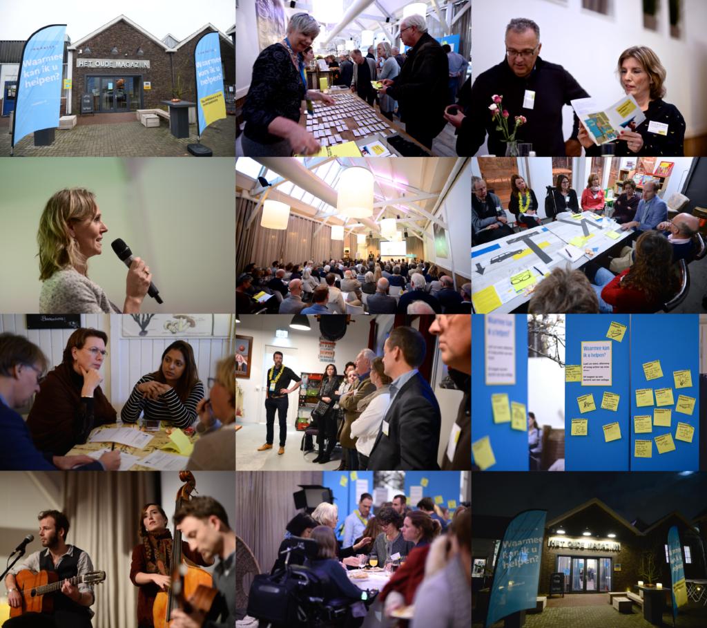 impressie van event Raedelijn - samenwerken aan zorg en gezondheid - lezingen, workshops, buffet, muziek in Het Oude Magazijn Amersfoort